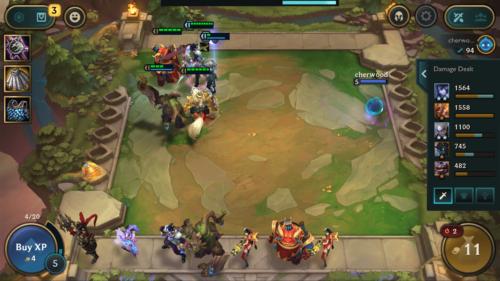 Damage dealt screenshot of Teamfight Tactics Mobile video game interface.