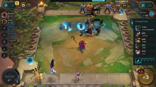 Fight screenshot of Teamfight Tactics Mobile video game interface.