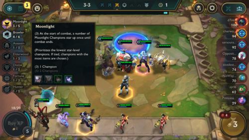 Moonlight information screenshot of Teamfight Tactics Mobile video game interface.
