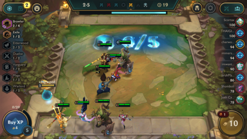 Prepare fight screenshot of Teamfight Tactics Mobile video game interface.