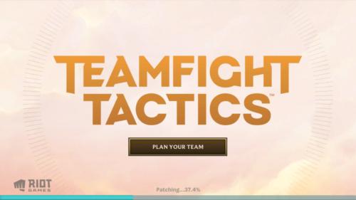 Start screen screenshot of Teamfight Tactics Mobile video game interface.