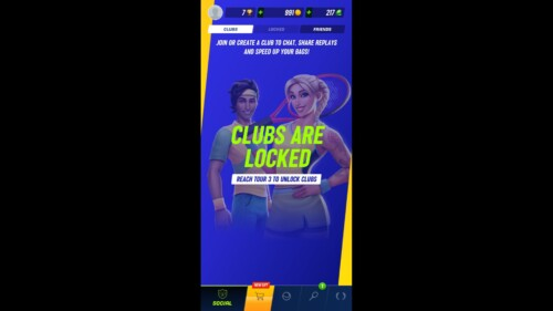 Locked Game Mode screenshot of Tennis Clash video game interface.