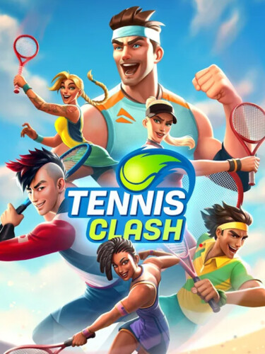 Cover media of Tennis Clash video game.