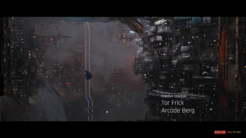 Credits screenshot of The Ascent video game interface.