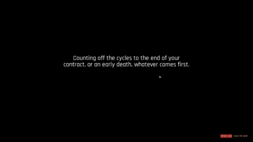 Chapter screenshot of The Ascent video game interface.