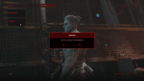Confirmation screenshot of The Ascent video game interface.