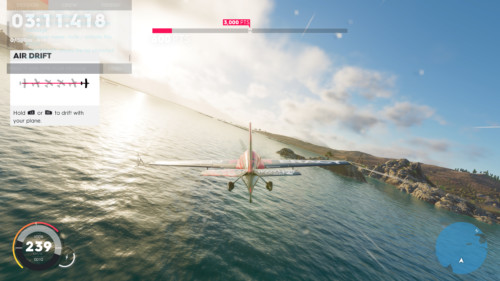 Air drift screenshot of The Crew 2 video game interface.