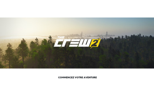Start adventure screenshot of The Crew 2 video game interface.