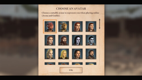 Arena Avatar Selection screenshot of The Elder Scrolls: Blades video game interface.