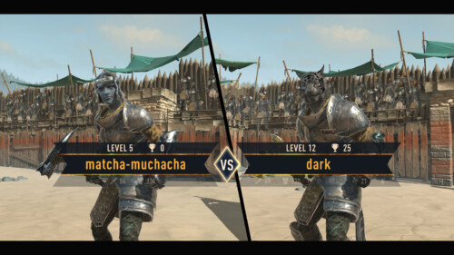 Arena - Battle Opponent Match screenshot of The Elder Scrolls: Blades video game interface.