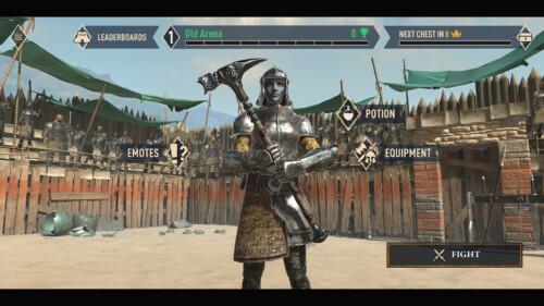 Arena Lobby screenshot of The Elder Scrolls: Blades video game interface.