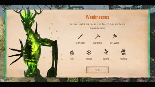 Enemy Weakness Detail screenshot of The Elder Scrolls: Blades video game interface.