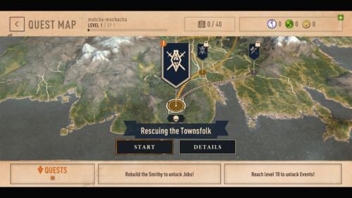 Quest Map Menu screenshot of The Elder Scrolls: Blades video game interface.