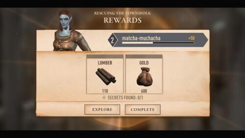 Rewards Summary screenshot of The Elder Scrolls: Blades video game interface.