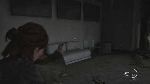 HUD Aiming Crosshair screenshot of The Last of Us Part II video game interface.