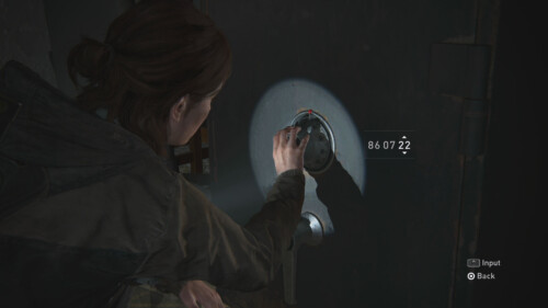 Minigame Safe Unlock screenshot of The Last of Us Part II video game interface.