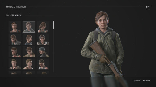 Model Viewer screenshot of The Last of Us Part II video game interface.