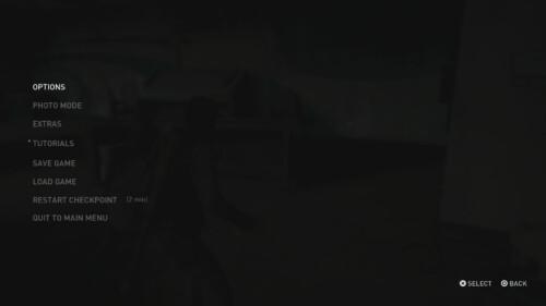 Pause Menu screenshot of The Last of Us Part II video game interface.