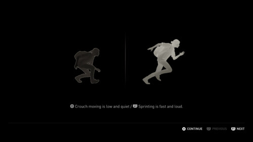 Tutorial - Movement screenshot of The Last of Us Part II video game interface.