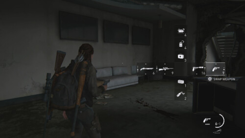 Weapon Switcher screenshot of The Last of Us Part II video game interface.