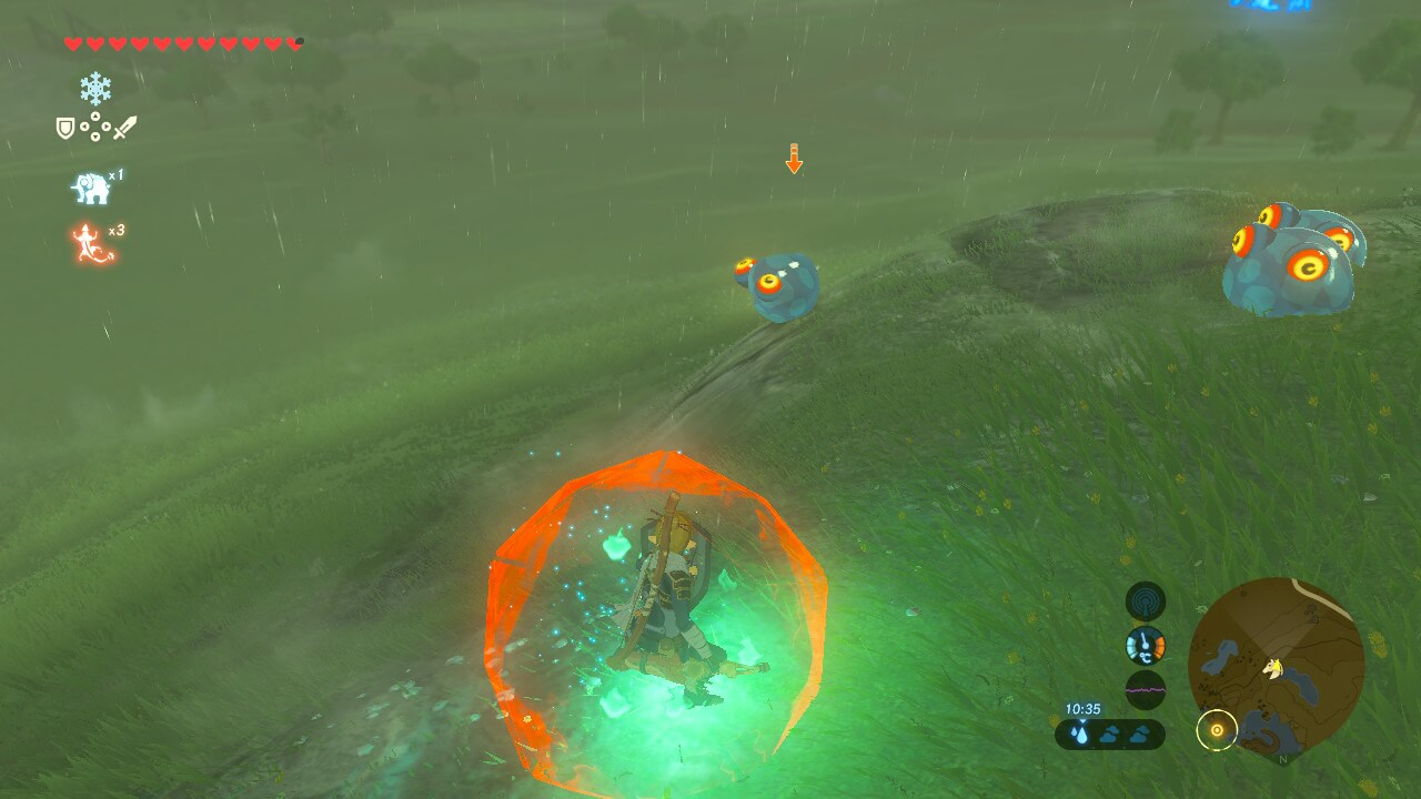Focus monster screenshot of The Legend of Zelda: Breath of the Wild video game interface.