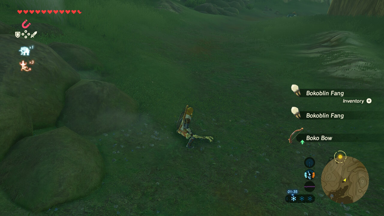 Loot screenshot of The Legend of Zelda: Breath of the Wild video game interface.