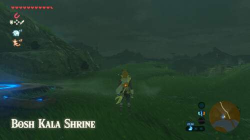 New zone screenshot of The Legend of Zelda: Breath of the Wild video game interface.
