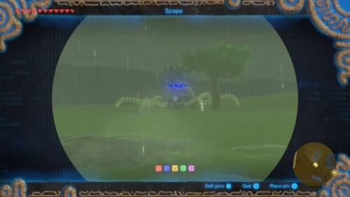 Scope screenshot of The Legend of Zelda: Breath of the Wild video game interface.