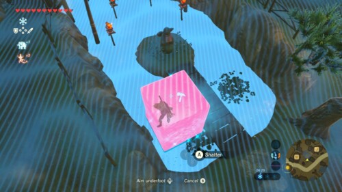 Shatter screenshot of The Legend of Zelda: Breath of the Wild video game interface.