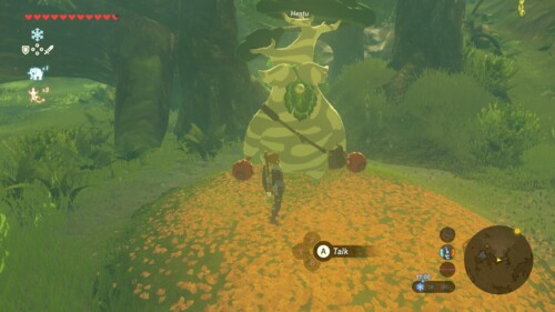 Talk screenshot of The Legend of Zelda: Breath of the Wild video game interface.