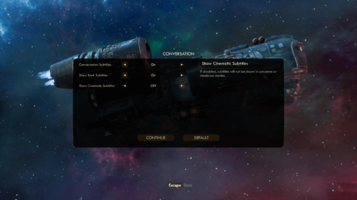 Conversation screenshot of The Outer Worlds video game interface.