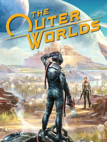 Cover media of The Outer Worlds video game.