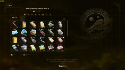 Store screenshot of The Outer Worlds video game interface.