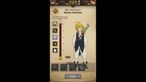 Affinity screenshot of The Seven Deadly Sins: Grand Cross video game interface.