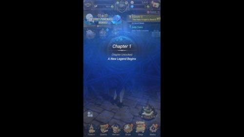 Chapter Unlocked screenshot of The Seven Deadly Sins: Grand Cross video game interface.