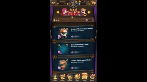 Final Boss returns shop screenshot of The Seven Deadly Sins: Grand Cross video game interface.
