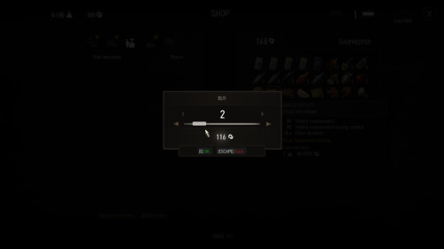 Buy screenshot of The Witcher 3: Wild Hunt video game interface.