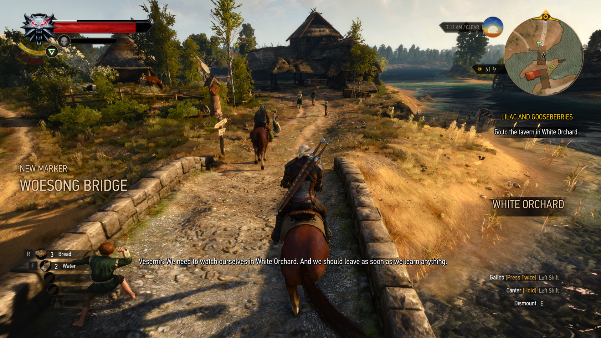 New marker screenshot of The Witcher 3: Wild Hunt video game interface.
