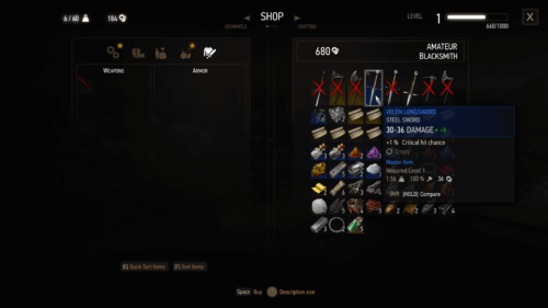 Shop screenshot of The Witcher 3: Wild Hunt video game interface.
