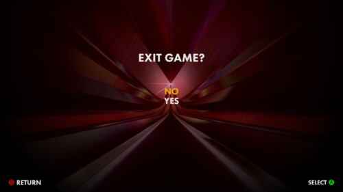 Exit Game screenshot of Thumper video game interface.