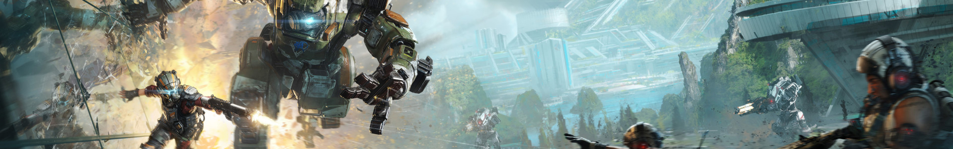 Banner media of Titanfall 2 video game.