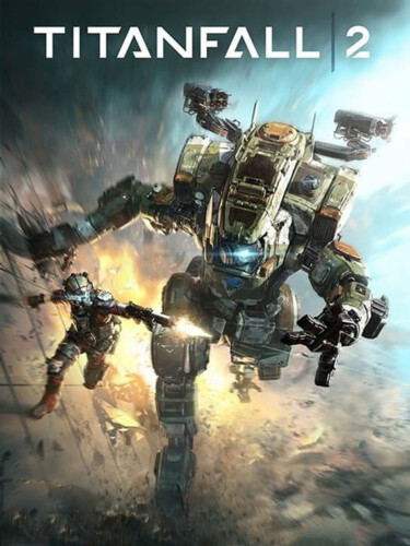 Cover media of Titanfall 2 video game.