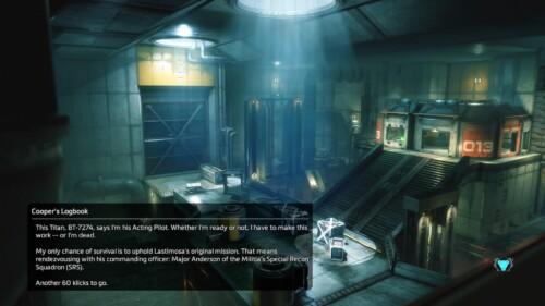 Loading screenshot of Titanfall 2 video game interface.