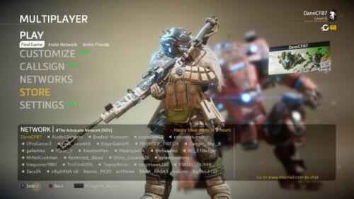 Multiplayer Screen screenshot of Titanfall 2 video game interface.