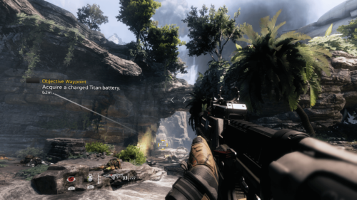 Objective Waypoint screenshot of Titanfall 2 video game interface.