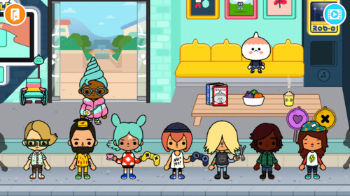 Character Inventory screenshot of Toca Life World video game interface.