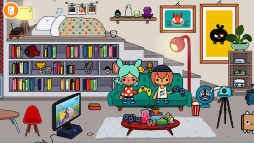 Home screenshot of Toca Life World video game interface.
