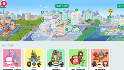 Shop - Game Items screenshot of Toca Life World video game interface.