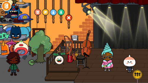 Stage screenshot of Toca Life World video game interface.