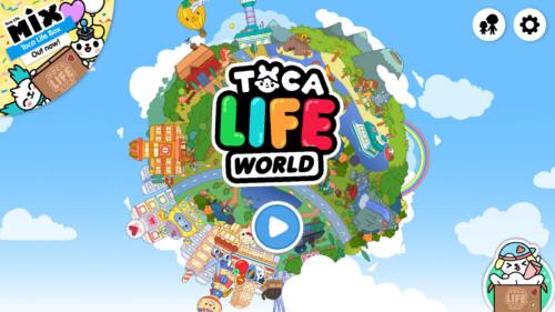 Start Screen screenshot of Toca Life World video game interface.